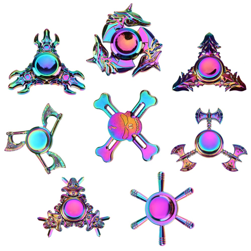 Colorful Fidget Hand Spinner Alloy Puzzle Hand Spinner Autism ADHD Stress Reliver Spiner Toys