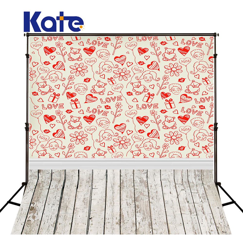 5*6.5Ft Kate  Backdrops Vinilos  Love Bright Backgrounds Thick Cloth Backdrops  Photography Fondos For ValentineS Day Mr-0015<br>