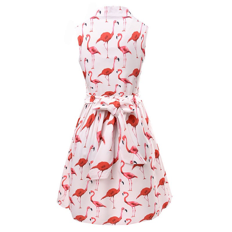 Vestods Summer 2017 Women Dress Strawberry Cactus Flamingo Unicorn Fun Flare Prints Casual High Waist Cute A Line Mini Dress 3