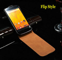 Genuine Leather Case For LG Nexus 4 E960 Mobile Flip Style Phone Back Cover Case For LG Google Nexus 4 Business Style(China)