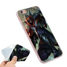 Popular Designs League of Legends Zed Clear Soft TPU Slim Silicone Phone Case Cover for iPhone 4 4S 5C 5 SE 5S 7 6 6S Plus