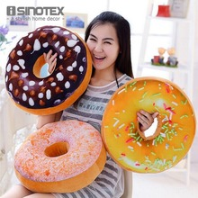 Creative Super Soft Pillow Simulation Chocolate Donut Cushion Large Office Nap Tool For Girls 1 PCS/Lot(China)