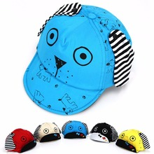 Cute Cartoon Child Baseball Caps Infant Baby Girl Boy Lovely Dog Snapback Caps Child Soft Brim Summer Spring Sun Hats Cap(China)
