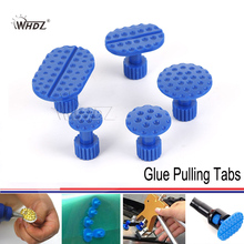 WHDZ Plastic Glue Pulling Tabs PDR Glue Tabs Auto Body Dent Repair Tool 5size 5pcs Alue Pulling Tabs