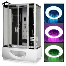 1350mm shower cabin  Steam Shower Enclosure Cabin Cubicle  Shower Bath No Whirlpool Corner Cabin Cubicle Enclosure Room 1c02