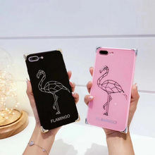 Buy Luxury Mirror Flamingo TPU+PC Phone Cases iphone 8 8Plus 7 7Plus 6 6s 6Plus 6sPlus Cute Animals Back Fundas Capa Cover for $3.94 in AliExpress store