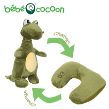 Bebecocoon Dinosaur/Airplane/Dog Plush Ushaped Neck Pillow Convertible Animal Stuffed Plush Toy Multifunctional Travel Cushion(China)