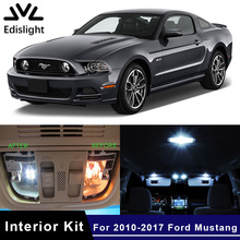Edislight 9Pcs White Ice Blue Canbus LED Lamp Car Bulbs Interior Package Kit For 2010-2017 Ford Mustang Map Dome Trunk Light