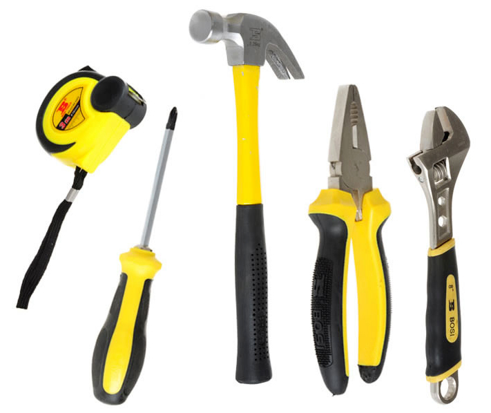 free shipping BOSI 5 in 1 electrician hand tools set,home tools<br>