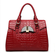 Authentic 100% Genuine Leather Women Crocodile Bag Women Croco Handbag Tote Women Bag Luxury Brand Bags A108#(China)