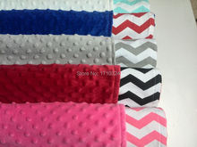 free drop shipping 26*30inch retail cheap minky dot fabric home use  blanket Bath Towel knitted cotton chevron baby blanket