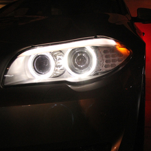 1 pair Car LED lights COB Angel Eyes Circle Fog Lamp with lampshade 4 kinds Outer diameter Lamp Angel Eye Light Car-styling New