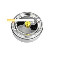 5PCS/LOT Stainless Steel Metal Windproof Cool Special Design Ashtray Ceniceros For Car Household(China)