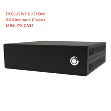 Mini ITX Computer Case HTPC Case PC Chassis All Aluminum Chassis POS Case Black Small Exclusive Custom