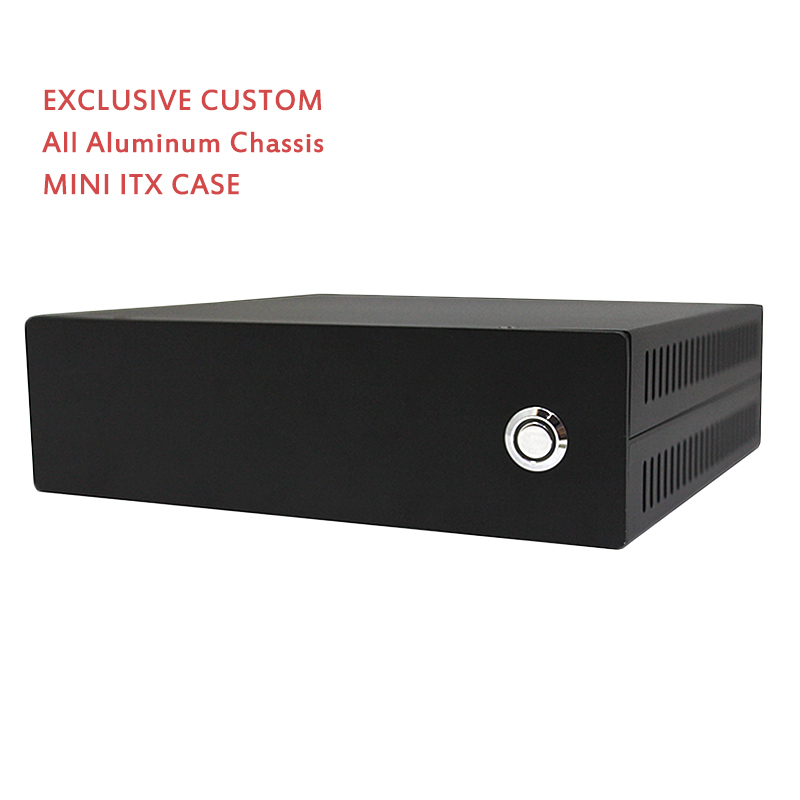 Mini ITX Computer Case HTPC Case PC Chassis All Aluminum Chassis POS Case Black Small Exclusive Custom(China)