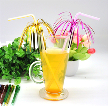 Free shipping 100pcs/pack Firework Cocktail Drinking Straw Umbrella Drinking Straw Party Decoration