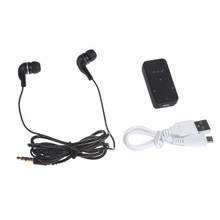 2CH Dual Audio Output 2.4G Bluetooth 3.0 Receiver Headset Mini 3.5mm in Ear Earphone with Mic for iPhone for iPad for Smartphone