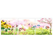 3 Panels Art Print On Canvas For Wall Picture Decoration No Frame Hot Sell Wall Home Decorative Art Paint Beauty Series Gift