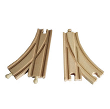 Thomas and Friends --2PCS  Thomas Wooden Train Track Railway Accessories --Single Radian Bifurcated Track