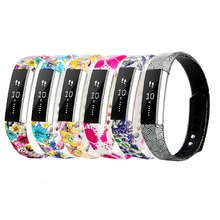 20 Patterns Large & Small Silicone Fitbit Alta Wristbands Sports Smart DIY Watch Bands Bracelet Strap Replacement in 20 Colors(China)