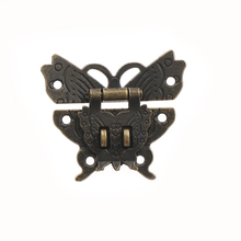 1pc Practical Retro Vintage Butterfly Latch Catch Lock Wooden Jewelry Box Case Locks Hasp Pad Chest Lock Box Tools(China)