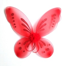 Kids Girls Colorful Feather Butterfly Wing Fancy Halloween Dress Fairy Cosplay