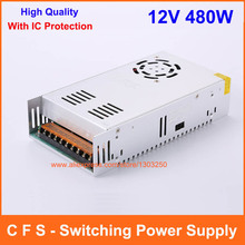 Single Output Universal DC 12V 40A 480W Switching Power Supply Transformer AC 110 220V Input to DC12V UPS For Led Strip Lamp