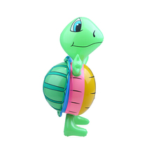 Friendly PVC Turtle Inflatable Toys For Children Big Tortoise Balloons Green Turtle Toy Cartoon Animals Kids Toy New Year Gift