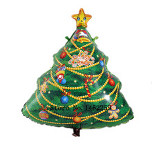 XXPWJ Free shipping 1pcs  Christmas tree decoration Christmas party balloon aluminum balloons wholesale  V-001