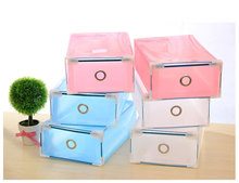 5 Pcs new high quality Clear Plastic Shoe Boxes Foldable Plastic PP Container Organizer Shoe Box Holder Thick Drawer organizador