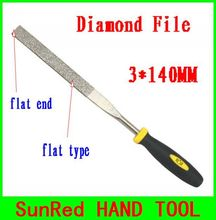 BESTIR taiwan excellent quality 120mesh 3*140MM flat end flat type diamond file metal trim prune work tool NO.07003