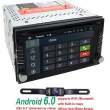 android6.0 CarDVD New universal Car Radio Double 2Din CarDVD Player GPS Navigation Stereo Head Unit video+Free Map free shipping
