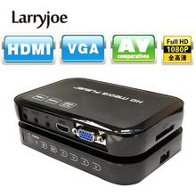 Larryjoe Multimedia Full HD 1080P HDMI Media Player Center HDMI VGA AV Output with Remote Control