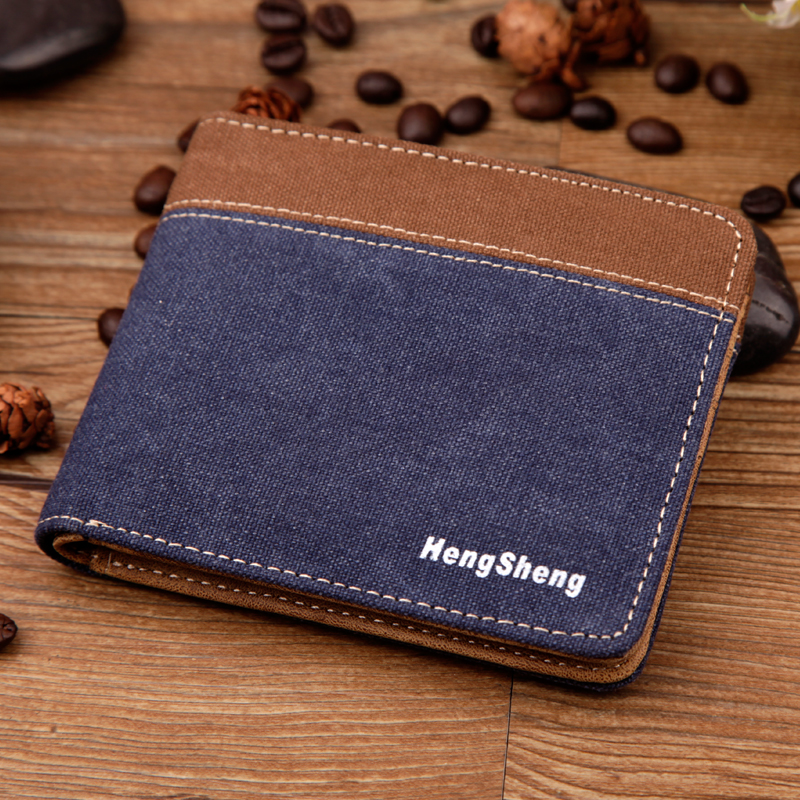Free shipping Fashion Mens Canvas short Wallets males Casual purses credit Cards Holder teenagers vintage coin wallet money bags<br><br>Aliexpress