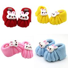 2017 Cute Handwoven Newborn Baby Girls Boys Crochet Knitting Toddler Crib Shoes Boots Hot(China)