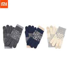 Christmas Gift Original Xiaomi Finger Screen Touch Gloves Winter Warm Wool Gloves For iphone Xiaomi Touch Phone Smart Tablet(China)