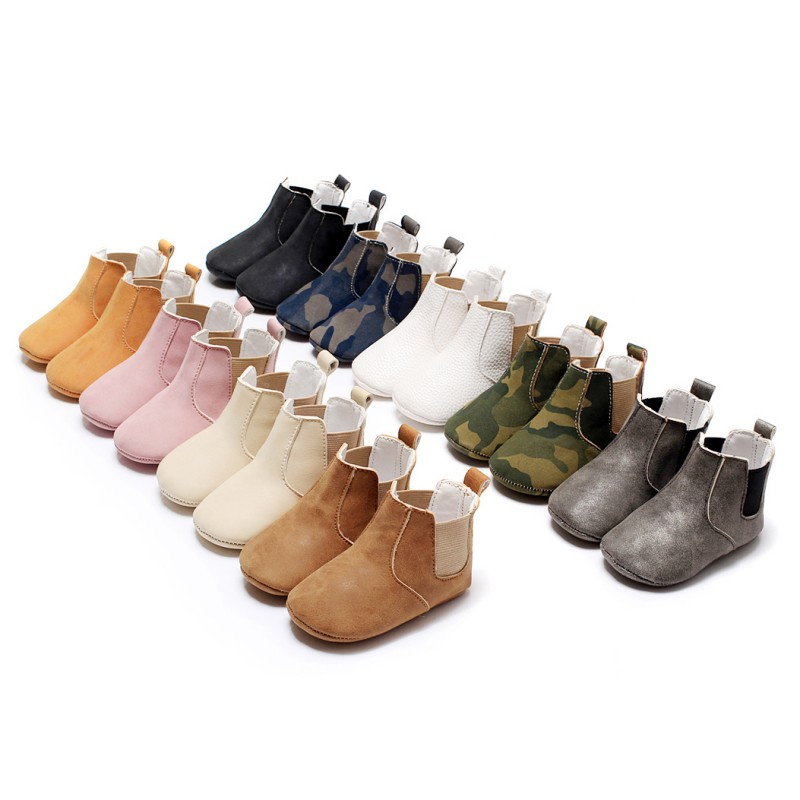 Toddler Baby Newborn Boy Girl Leather Soft Sole Crib Shoes Sneakers Prewalker