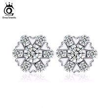 ORSA JEWELS Wholesale Ear Studs Silver Color Charming Jewelry Earring Best Gifts for Girls OE67