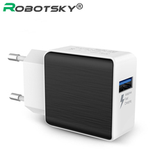 5V Max 2.5A QC2.0 USB Charger Adapter Fast Charger Wall Charger Travel Adapter for Samsung Note 8 7 S7 S6 HTC M9(China)
