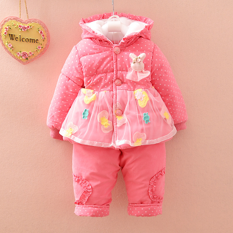 New 2017 Baby girls winter clothing suit set warm down jacket+pants long sleeve coat kid clothing set fashion clothes<br><br>Aliexpress