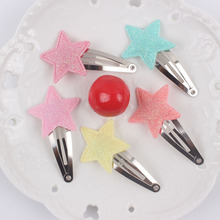 2017 hot clip geometric five-pointed star diameter 30mm girls Barrettes long 60mm lovely Hair accessories for kids Hairpins 1pcs