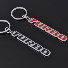 Fashion Metal Car Logo TURBO Keychain Key Chain Key Ring Keyring Car Styling For Mercedes BMW Audi Ford Honda Nissan Toyota VW(China)