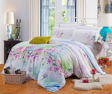 100% natural Tencel silk Spring summer 4pcs flower bedding set princess bedlinen comforter/duvet cover pillowcase bed suit/B3315