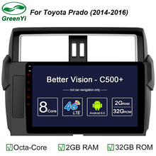 GreenYi Octa Core Android 6.0 Car Radio DVD GPS Navigation For Toyota Prado 150 2014 2015 2016 2017 Car multimedia Head Unit 4G(China)