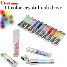 Best gift Pen drive Natural Diamond 4GB 8GB 16GB 32GB 64GB Usb Flash Drive Crystal Perfume Flash disk Memory Card Pendrive(China)