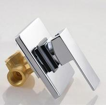 Bathroom Concealed shower faucet In Wall Mounted Faucet Shower Mixer Valve Brass Chrome Singl Function Actuated Faucet tap mixer