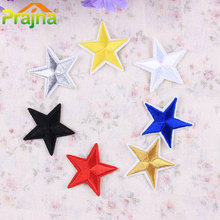 1PCS Custom Logo Star Patch Iron On Cartoon Patches Fashion DIY Cheap Embroidered Cute Patches For Clothes Kids Jeans Applique