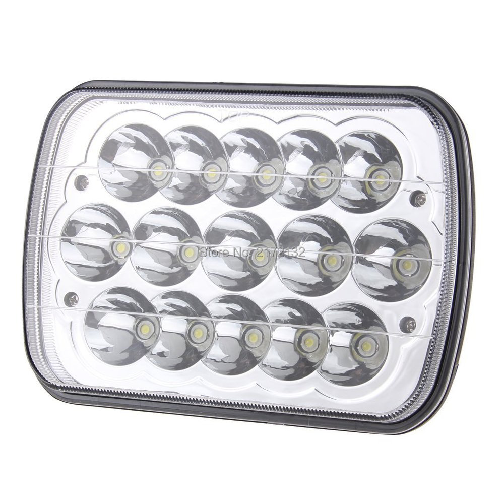 1pair 5x7 inch 45W 7 led truck lights 45W High/Low beam in the suit for jeep Kenworth trucks offroad lights<br><br>Aliexpress
