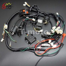 Full Wiring Harness Loom Ignition Coil CDI For 150cc 200cc 250cc 300cc Zongshen Lifan ATV Quad Buggy Electric Start Engine T-mot(China)