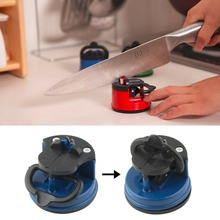 Blue steel Knife Sharpener with suction pad Scissors Grinder Secure Suction Chef Pad Kitchen Sharpening Tool afilador cuchillos